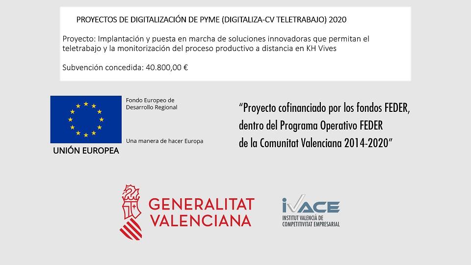 Proyecto de digitalización de PYME (Digitaliza-CV Teletrabajo) 2020